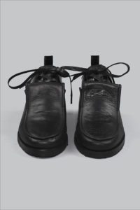Half-Measures-Double-Loafer-Black-FrontOnFRA