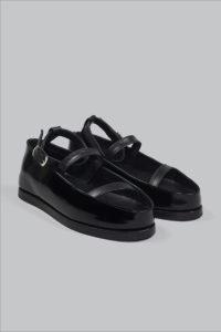 Half-Measures-Flatform-Sandal-Black-FrontF