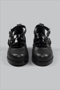 Half-Measures-Cutout-Sandal-Black-FrontOnFRA