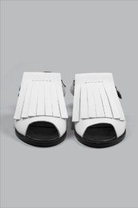 Half-Measures-Fringe-Sandal-White-FrontOnFRA