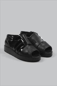 Half-Measures-Peel-Back-Sandal-Black-FrontFRA